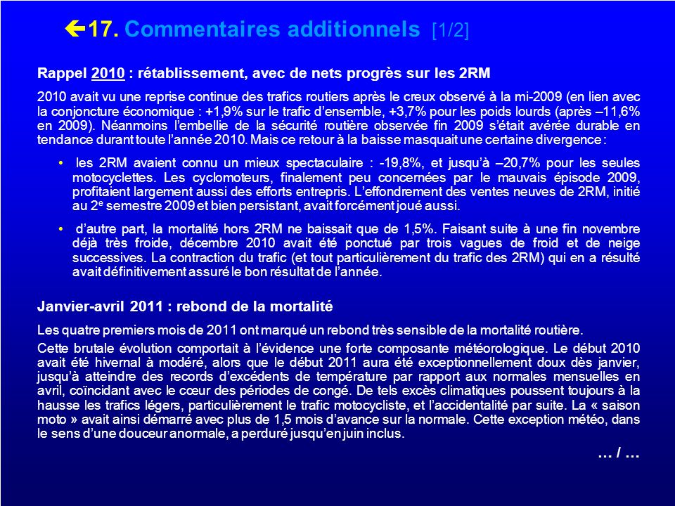 17. Commentaires additionnels [1/2]